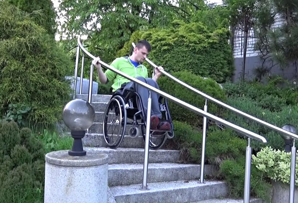 dezziv climber helper braking on stairs wheelchair