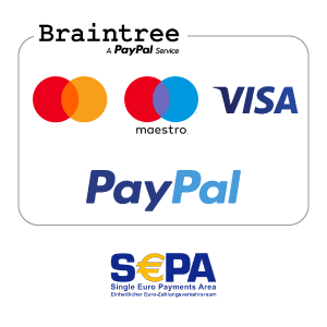 payments PAYPAL VISA BRAINTREE MAESTRO MASTERCARD